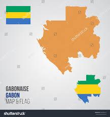 Gabon Map Gabon Map Flag Stock Vector 544956715 Shutterstock