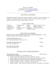 electrical engineering resume for internship electrical engineer resume