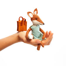 charlotte fox kit felt animal craft kit fox sewing kit