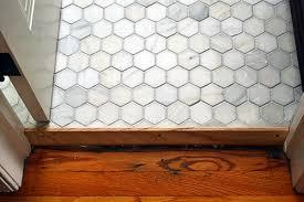 Marble Hex Tile Lemon Grove Avenue - Bathroom door threshold 2