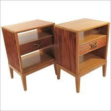bedroom design ideas narrow bedside table dark wood 24 inch