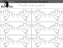 nail art design practice sheet full hand almond manicures