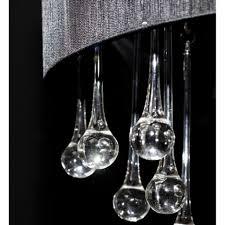 shade crystal chandelier organza shade drum glass crystal chandelier lamp pendant lighting