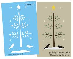 15 best images of primtive patterns printable winter tree