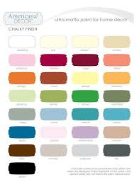 many americana decor chalky finish paint colors are now available