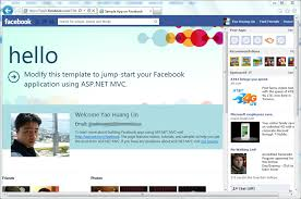 the new facebook application template and library for asp net mvc
