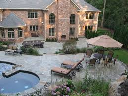 Stone Patio Images by Natural Stone Patio Amp Wall Design For Pools Amp Landscaping Nj