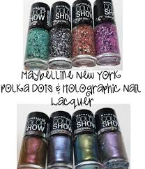 maybelline new york new color show polka dot and holographic polish