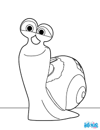 turbo snail coloring pages hellokids