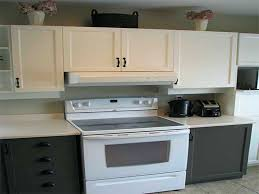 painting kitchen cabinets two colors classic gray kitchen cabinet