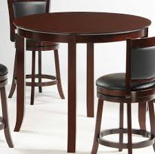 tall dining tables small spaces homelegance shapel round 42 inch counter height dining table 1129c