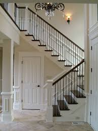Banister And Spindles Wood Staircases With Iron Balusters