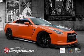 nissan gtr wrapped 0 60 burnt orange nissan gtr graphiti
