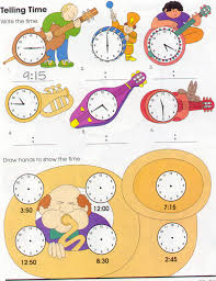 Clock Worksheets Grade 1 Time And Calendars Lesson Plan