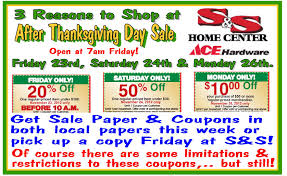 after thanksgiving sale s s home center