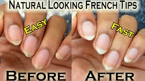 diy natural looking french manicure make your yellow nails