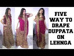 Ways To Drape A Dupatta 16 Best Wearing Lengha Images On Pinterest Different Styles How