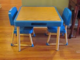 fisher price table and chairs vintage fisher price arts and crafts table chairs set child size