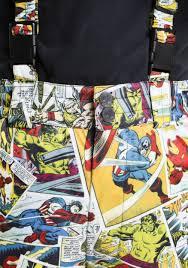 kids marvel comic print superhero snow pants