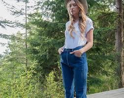 High Waist Bootcut Jeans High Waist Jeans Etsy