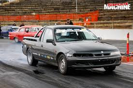 holden car truck 10 second barra powered holden ute at drag challenge video