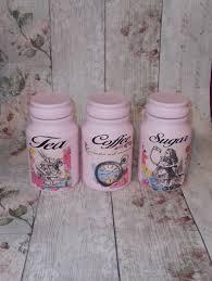 pink kitchen canister set in pink canister jars tea coffee sugar jars set