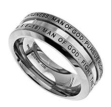 christian wedding bands 1 timothy 6 6 16 ring for men christian bible verse promise