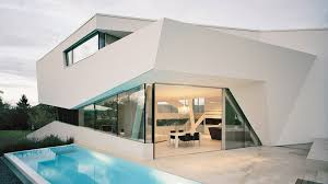 freundorf residence futuristic all white house near vienna