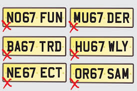 Banned Vanity Plates Dvla Announces The Latest Number Plates Banned For Being Too