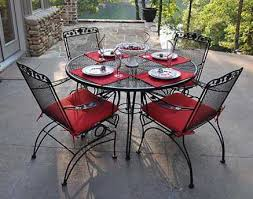 Wrought Iron Patio Table And Chairs Meadowcraft Patio Furniture Patioliving