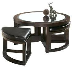 round coffee table with 4 stools coffee table with 4 ottomans best coffee table with 4 ottomans round