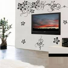 wall stickers near tv wall stickers near tv large vine flowers wall stickers decal mural removable home decor tv