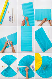 how to make paper fans paper fans oh happy day fans diy paper and garlands