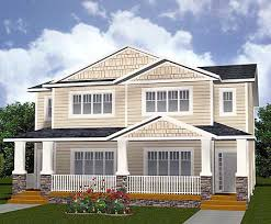 plan 81620ab multi family home with shingles and siding duplex