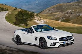 convertible mercedes 2017 refreshed 2017 mercedes benz sl debuts in l a with new nine speed