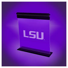ncaa lsu tigers acrylic neon led light purple gold purple gold
