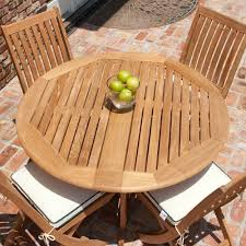 Round Teak Table And Chairs Barbuda 4ft 48in Diameter Round Teak Folding Patio Westminster