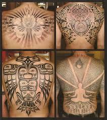 japanese aztec tribal tattoo designs on full back tattoo design