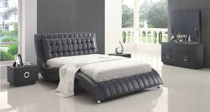 Clean White Modern Bedrooms Bedroom Excellent Leather Bed Furniture For The Seeker Pleasure