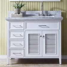 Bathroom Vanity With Offset Sink 41 To 45 Inch Bathroom Vanities You U0027ll Love Wayfair