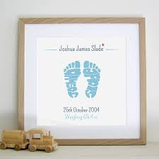 baby footprint ideas personalised new baby footprints print by name