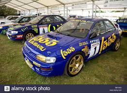 subaru rally 1995 subaru impreza wrc rally car in the paddock at goodwood
