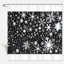 Snowflake Curtains Christmas Silver Snowflakes Shower Curtains Cafepress