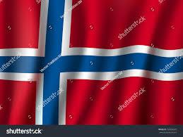 Norweigan Flag Norway Flag 3d Background Norwegian Republic Stock Vector