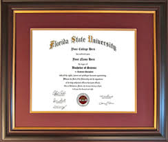fsu diploma frame florida state fsu diploma frames