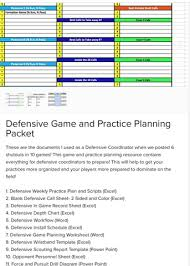 coach vint building a defensive call sheet
