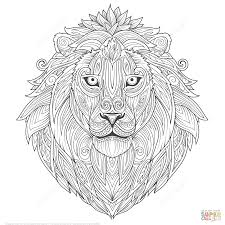snow lion zentangle coloring page free printable coloring pages