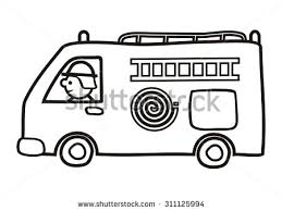 fire truck coloring vector icon stock vector 311125994