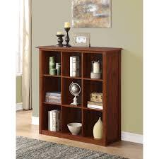 Mahogany Effect Bookcase Simpli Home Acadian 9 Cube Bookcase U0026 Storage Unit Walmart Com