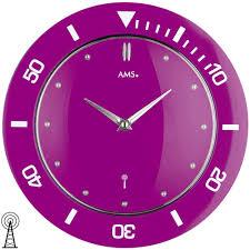wanduhr funk wanduhr lila kaufen sie wanduhr lila auf www twenga de